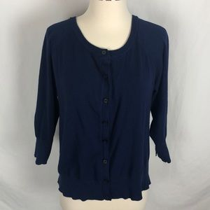 Lane Bryant blue button up cardigan sweater
